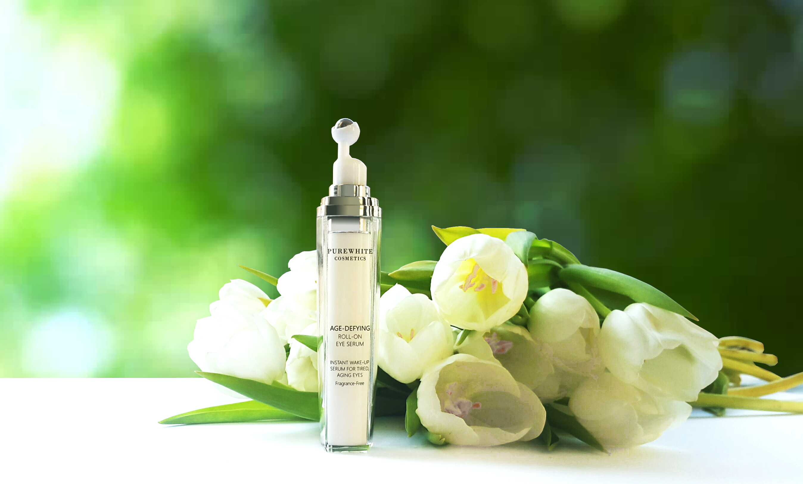 Pure White Cosmetics - Introducing NEW Age-Defying Roll-on Eye Serum