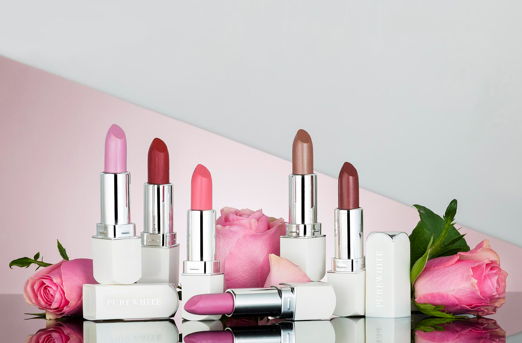 Pure White Cosmetics - Purely Inviting Satin Cream Lipstick Collection