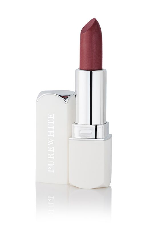 Pure White Cosmetics - Purely Inviting Satin Cream Lipstick - Deep Plum